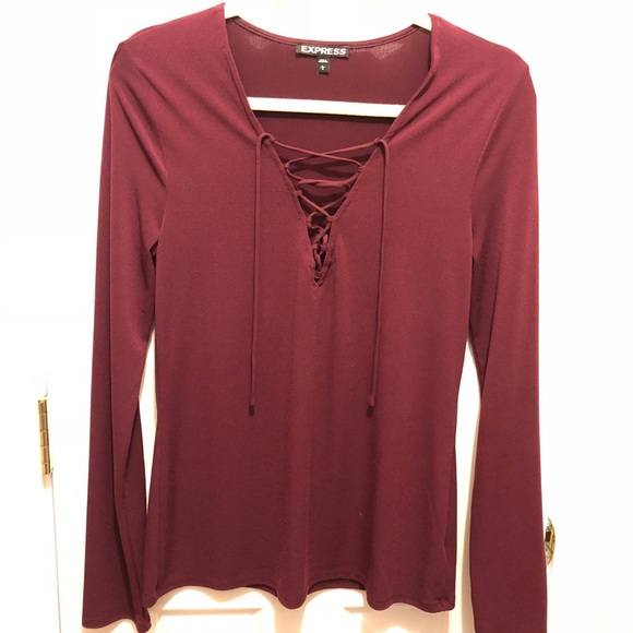 Express Tops - Express Laced Up Women's Top Size Large